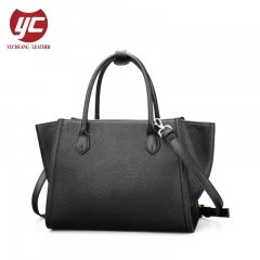 China Leather Handbag Manufacturer Cow Leather Tote Handbag