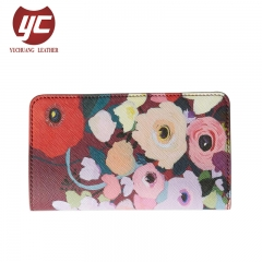 High Quality 2019 Popular Trend Ladies Flower Print Wallets