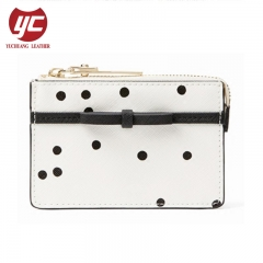 Dot Printing New Trendy Coin Wallet With Bow For Ladies