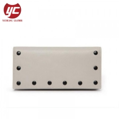 Newest Trendy Folded Design Wholesale Wallet with Rivets