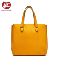 Excellent Quality Soft Genuine Leather Women Style Tote Bag