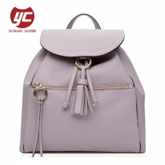 China manufacturer Newest fashion PU lady backpack women backpack with tassel