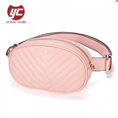 2019 newest fashion quilted PU lady shoulder bag waist bag