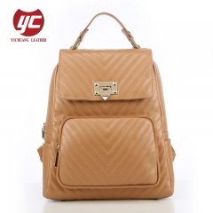 China manufacturer Newest fashion PU quilted lady backpack women backpack