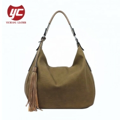 2019 newest special PU leather fashion ladies shoulder bag hobo bag with tassel