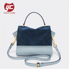 Wholesale Price Customized Suede Cow Leather Women Shoulder Bag Crossbody
