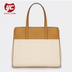 Contrast Color Popular Style Tote Bag Fashion Office Handbag For Ladies