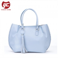 New Fashion Designer Woven Sides Genuine Leather Handbags