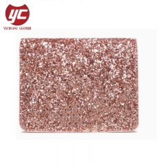 New Arrival China Glitter PU Ladies Wallet Manufacturer