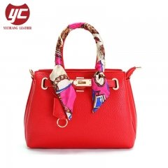 Guangzhou Manufacturer Floral Scarves Fashion Leather Ladies Handbags
