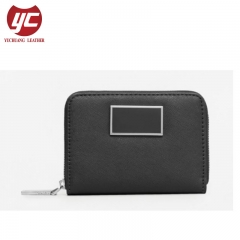 Artificial Saffiano Leather Card Holder Wallet for Ladies