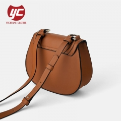 2019 newest PU leather fashion lady saddle bag crossbody bag